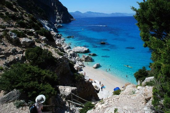 view from the stairs to the Cala Goloritze