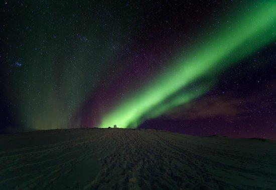 Abisko, Schweden: Viewing Aurora Borealis from Mount Njulla