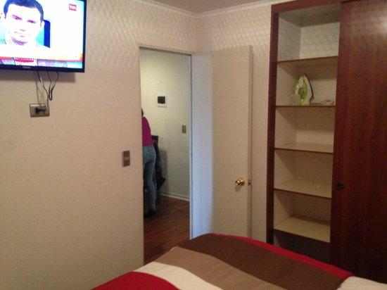 Chileapart.com: Quarto de casal do apartamento