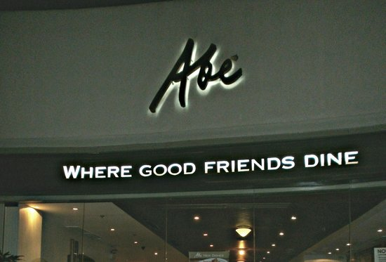 Abe, where good friends dine