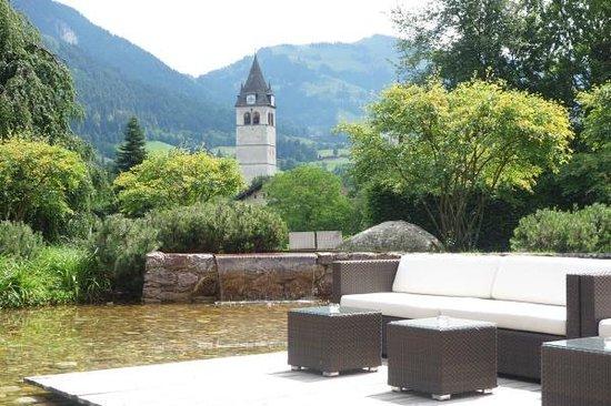 Hotel Kitzhof Mountain Design Resort: Blick von der Terasse