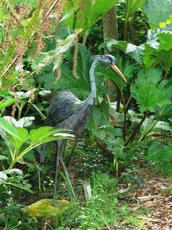 Wild Subtropical Garden: Heron by Abbey Evans