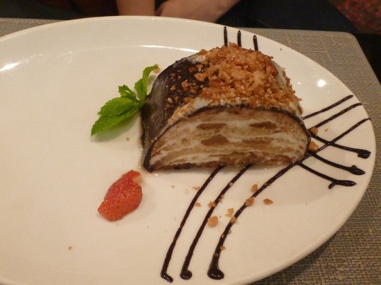 Zuma: Turtle - Biscuit dessert soaked with sour cream & boiled condensed milk