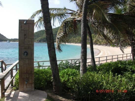 Peter Island Resort and Spa: I love the showers that are placed around the resort to wash off sand, etc.