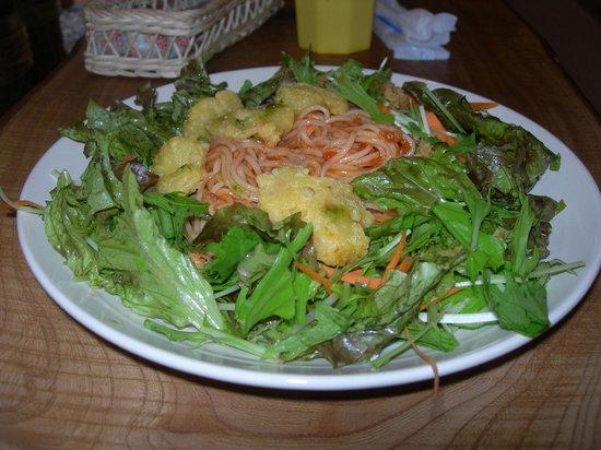 Woody: Shrimp and Green Salad  750 yen