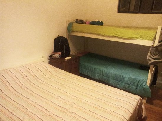 One of the private rooms at Rayuela Hostel