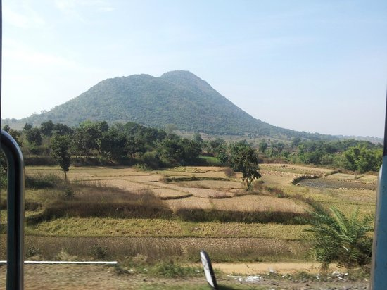 Jharkhand, India: from train the view of tonk