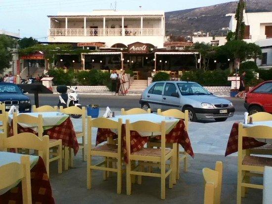 Aeoli: Le restaurant et sa salle intérieure