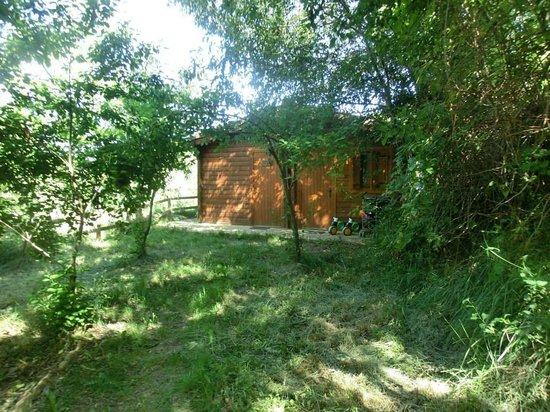 Mas de Borras: vista de la cabaña (tiene dos habitaciones cada una)