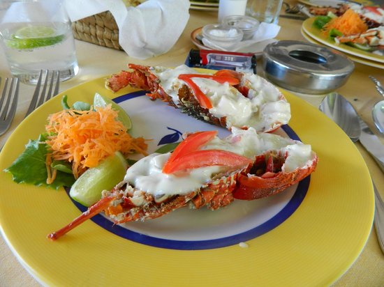 Old Man and the Sea Restaurant: the russian lobster