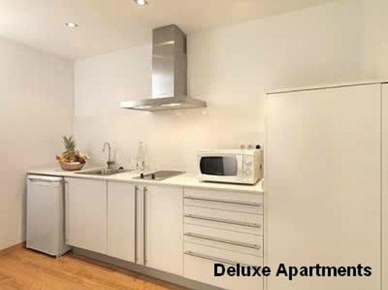 Hotel Playafels : Cocina Apartamentos Deluxe Playafels