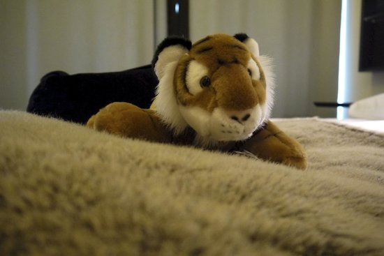 GLO Hotel Art: The plush toy that came with the room. Not free to take home!