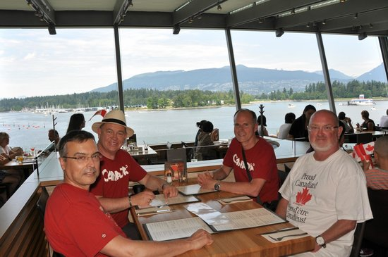 Cactus Club Cafe: Stnning views from the open windows of the Cactus Club @ Canada Place