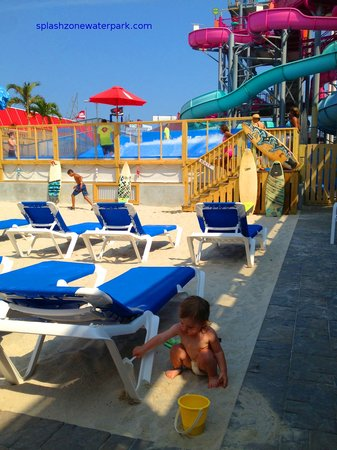 Splash Zone Water Park: The Flow Rider at Splash Zone fun for all ages.