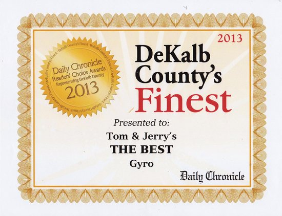Tom and Jerry's : Voted best GYROS 2013