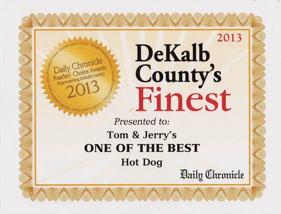 Tom and Jerry's : Voted one of the best HOT DOGS 2013
