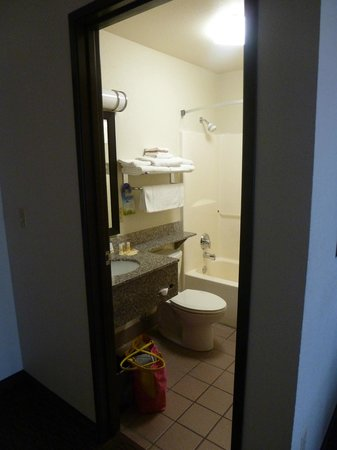Days Inn & Suites Page Lake Powell : small bathroom
