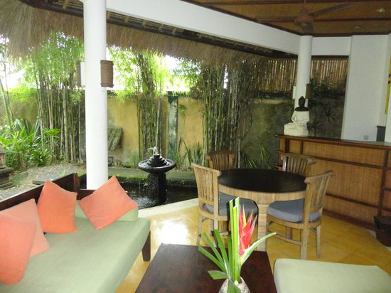 Ubud Villas and Spa : patio della stanza