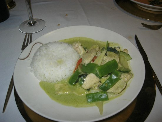 Thai Barcelona | Royal Cuisine: pollo con curry verde del menú de 15'40€