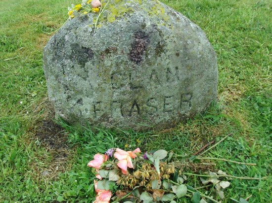 Culloden Battlefield: Clan Fraser stone for lovers of Outlander