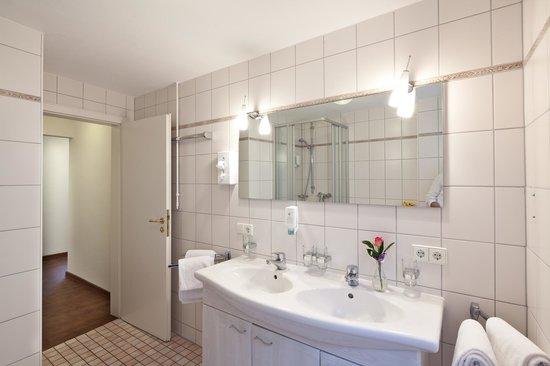 Hotel Rappen am Münsterplatz: Badezimmer Appartement