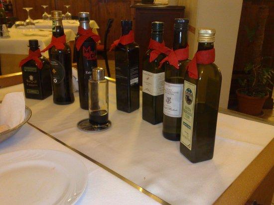 Ristorante  Tre Archi: assaggi d'olio