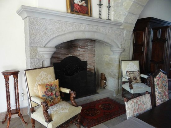 Montfaucon: Restored fireplace