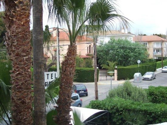 Hotel Los Globos: Vista desde la terraza