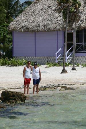 Blackbird Caye Resort : My Son & I