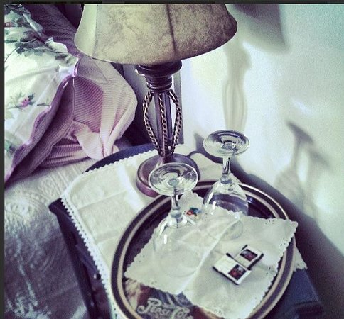 La Petite France: a bedside table is made complete with dark chocolates