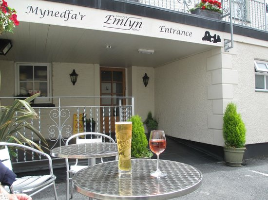 Gwesty'r Emlyn Hotel : Back entrance.