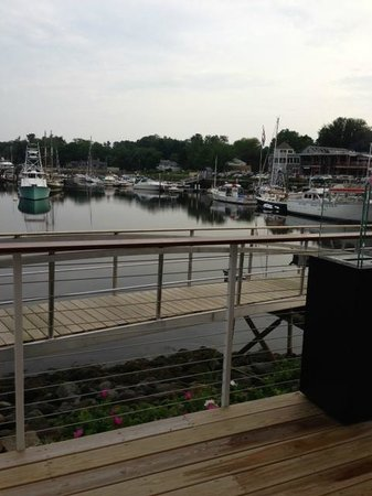 David's KPT: View out to river over David's deck and wharf