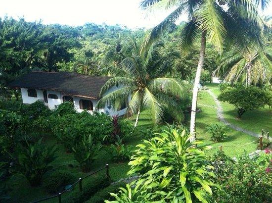Diquis Del Sur : Vu sur une partie du jardin et d'un cabinas