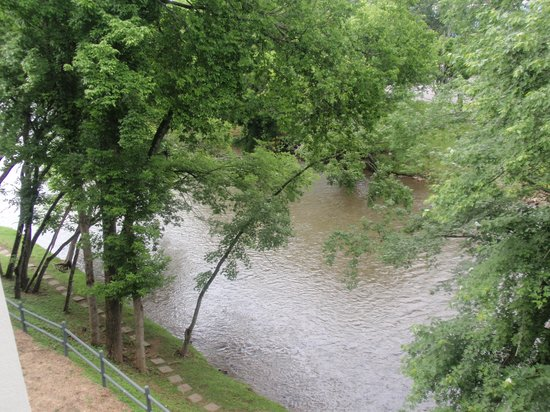 The Inn On The River : View from our room of the river