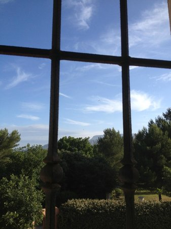 Le Moulin des forges : view from one window in the room