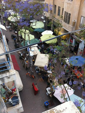 Avenida 13 Hostel: view from roof terrace