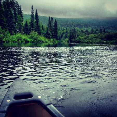 Au Canot Volant: View from the Canoe