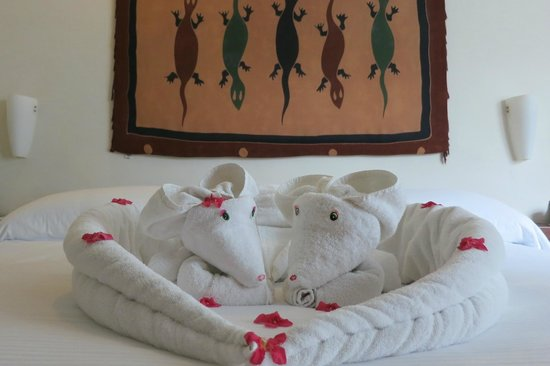 La Tortuga Hotel & Spa: The talented maid leaves these adorable towel animals!