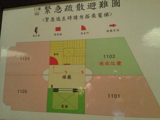 Burgary Hotel: floor plan