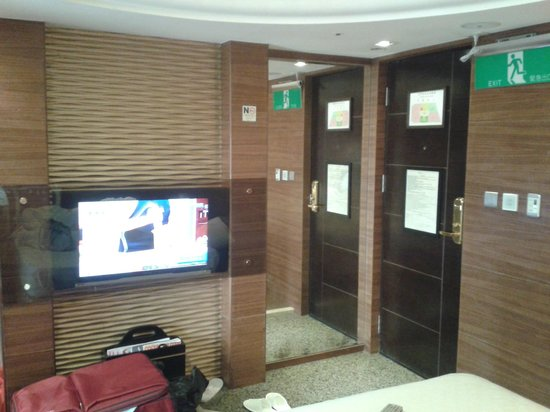 Burgary Hotel: room, see the control panel next to the door