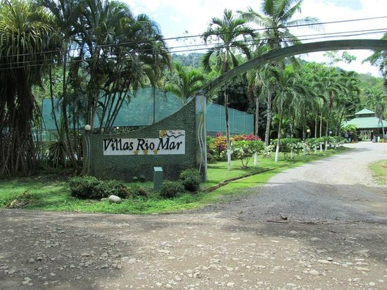 A Welcoming Entrance to Villas Rio Mar, Dominical, Costa Rica