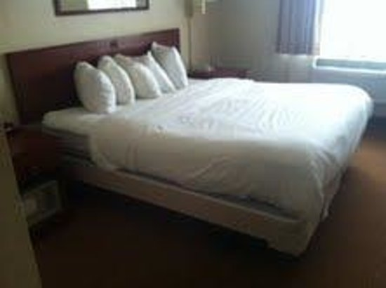 Comfort Suites O'Hare: No bed skirt