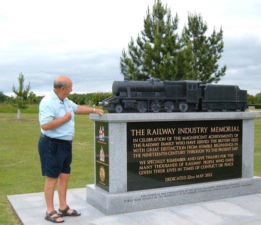 Alrewas, UK: Memorial to fallen Railwaymen