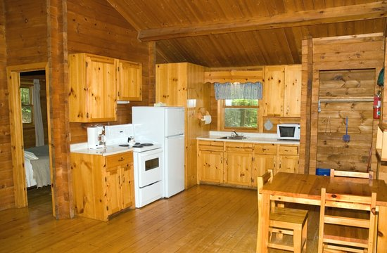 Ingonish Chalets: Every 2 bedroom chalet has a full kitchen.