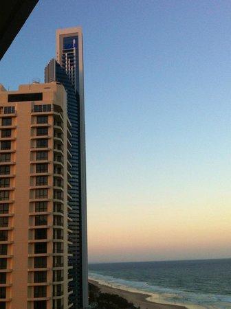 Surfers International: vu depuis le balcon fin de journée