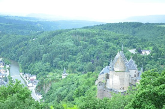 Vianden Chairlift: View from the top
