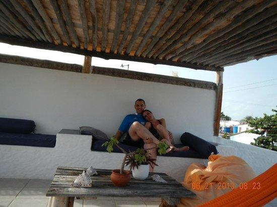 Posada La Quigua Los Roques: En la terraza descansando...