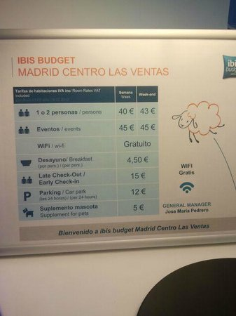 Ibis Budget Madrid Centro Las Ventas : Descripcion