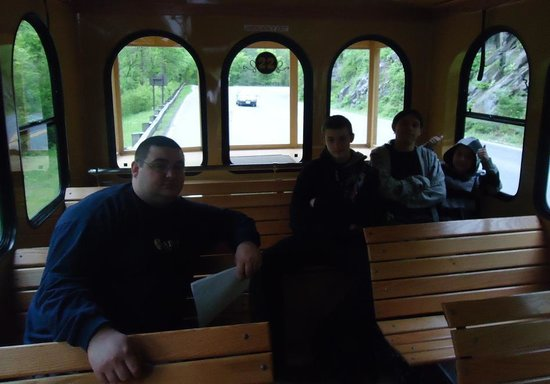 Gatlinburg Trolley: Inside the tram