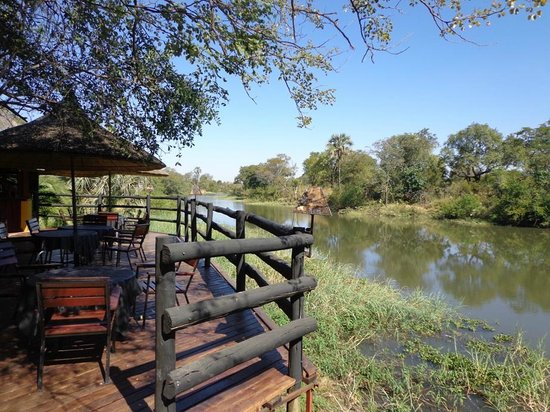 Maramba River Lodge: View near the bar area.